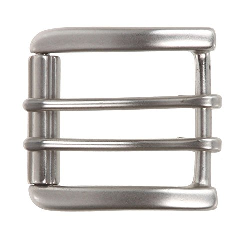 "1 1/2"" (38 mm) Nickel Free Double Prong Square Roller Belt Buckle Color Antique Silver"