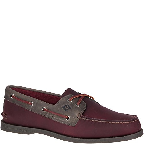 - SPERRY Men's A/O 2-Eye Pullup Boat Shoe, Burgundy/Grey, 9 M US