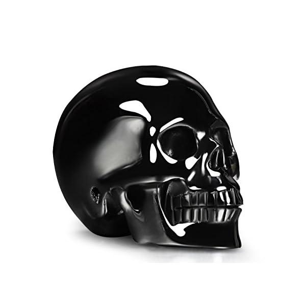 Skullis 3.0-4.1″ Black Obsidian Carved Crystal Skull, Hand Carved Gemstone Fine Art Sculpture, Reiki Healing Stone Statue.
