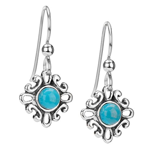 american-west-sterling-silver-turquoise-small-flower-earrings