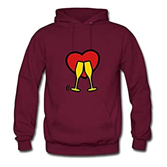 Randaltho Celebration Time Print Hoody X-large For Women Burgundy