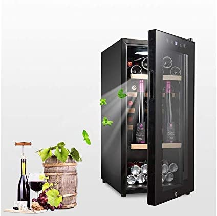 Lnspirationalギフトデコレーションアクセサリー41ボトル自立式タッチスクリーンワインクーラー電子制御ワイン冷蔵庫ブラック110Lワイン冷蔵庫インテリジェント一定温度ブラック