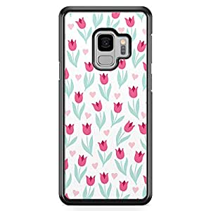 Samsung S9 Transparent Edge Case Valentines Day Couples Love Letter Lock Key Hear Arrow Pattern Cute Design Low Profile Scratch Resistant Samsung S9 Transparent Edge Cover
