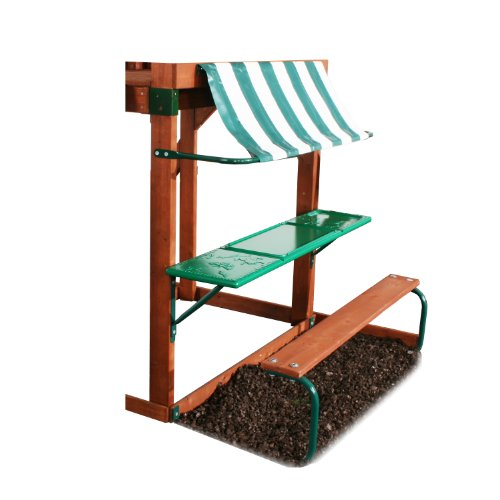 Swing-N-Slide PB 8268 Discovery Table with Bench & Awning, Green ()