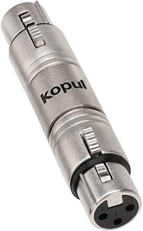 "Kopul 3-Pin XLR Female to 1//4/""/"" TRS Male Barrel Adapter"