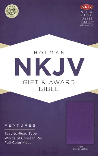 NKJV Gift & Award Bible, Purple Imitation - Falls The Map Miami
