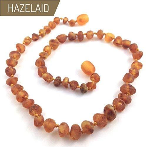 "Hazelaid (TM) 12"" Twist-Clasp Baltic Amber Cinnamon"