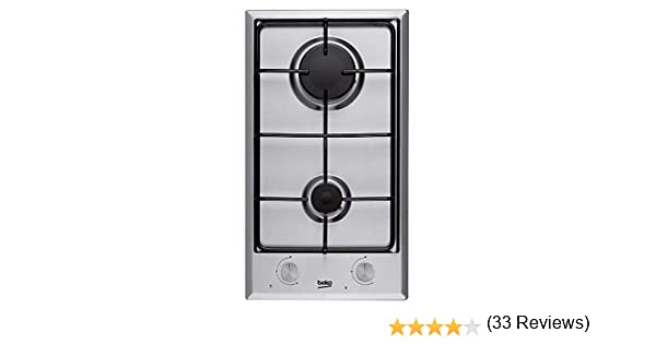Beko HDCG 32220 FX Integrado Encimera de gas Acero inoxidable hobs - Placa (Integrado, Encimera de gas, Acero inoxidable, Acero inoxidable, 1000 W, ...