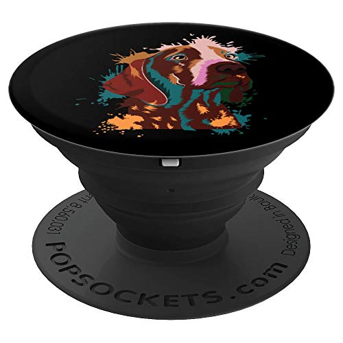 (German Shorthair Pointer   Gift Dog Mom Dad   Silhouette - PopSockets Grip and Stand for Phones and Tablets)