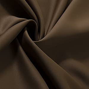 """Best Home Fashion Wide Width Thermal Insulated Blackout Curtain - Antique Bronze Grommet Top - Chocolate - 100""""W x 84""""L - (1 Panel)"""