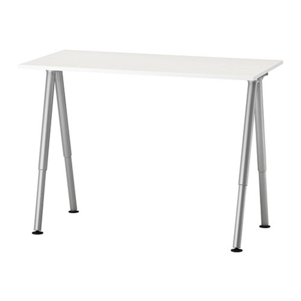 IKEA/イケア THYGE:デスク120×60cm ホワイト/シルバーカラー (192.451.92) B075B77CB7