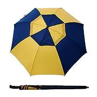 "Bayside21 68"" Arc Stick Auto Open Golf Umbrella - Blue/Yellow"