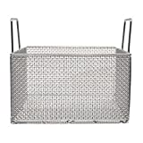 Marlin Steel 00-104A-31 Mesh Basket with Handles, Square, Stainless Steel, Electropolished
