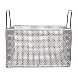 Marlin Steel 00-104A-31 Mesh Basket with Handles, Square, Stainless Steel, Electropolished by Marlin Steel Wire Products