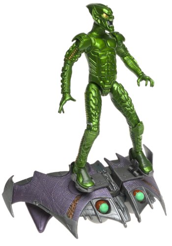 - SpiderMan Movie ToyBiz Action Figure Green Goblin Pumpkin Bomb Goblin Glider
