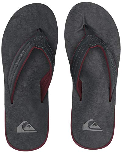 Quiksilver Men's Carver Nubuck Sandal Blue/red/Grey 13(46) M -