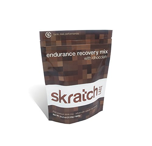 Skratch Labs Endurance Recovery Mix, Chocolate, 12 Serving Resealable Bag