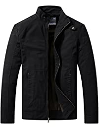 Men's Spring Casual Lightweight Full Zip Military Jacket