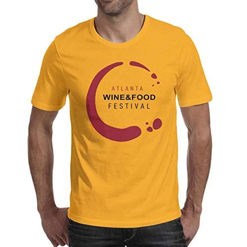 aeghwa Atlanta Food and Wine Festival tee Shirts 100% Cotton Short Sleeve Printing Tshirts for Men's