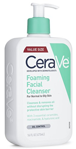 412tzkiTo1L CeraVe Foaming Facial Cleanser 16 oz for Daily Face Washing, Normal to Oily Skin