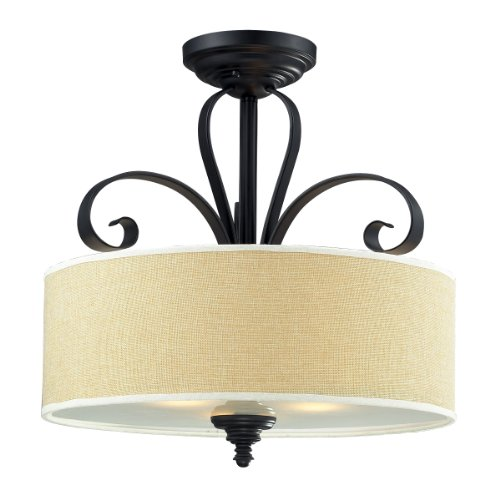 Z-Lite 2001SF Three Light Semi-Flush Mount