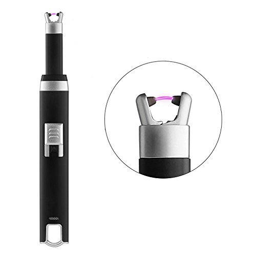 AUTSCA ARC Lighter USB Rechargeable Lighter 30k Times Service Life Flameless Windproof ARC Pulse Long Neck Lighter for Candle, Grill, Stove