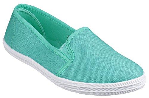 Shoesbyclaire Material Bailarinas para Sintético Verde garland menta de mujer verde rqtw5xrPS