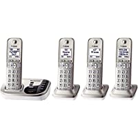 Panasonic KX-TGD224N Expandable Cordless Phone with Talking Caller ID- 4 Handsets (Certified Refurbished)