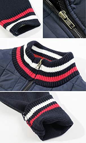 Mens Jumper Outdoor Top Navy Padding Jacket Blue Quilt Up Zip EnvyLook Casual WK314 xpq6HUwwg