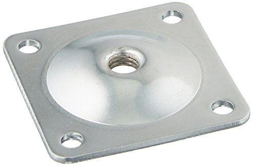 Pandora Hardware Furniture Leg Attachment Plates 5/16 -in, Heavy Duty Top Plate for Sofa, Table, Ottoman and Couch. Mounting Screws Included, 12 Gauge Galvanized Steel Set of (Pandora Top)