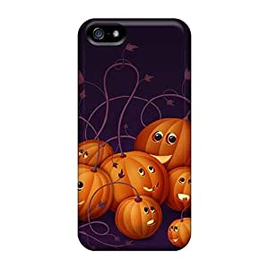 Hot QeSoaTN1517yfNcg Halloween Pumpkins Holidays Tpu Case Cover Compatible With Iphone 5/5s
