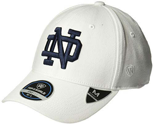 Top of the World Notre Dame Fighting Irish Men's Memory Fit Hat Icon, White, One -