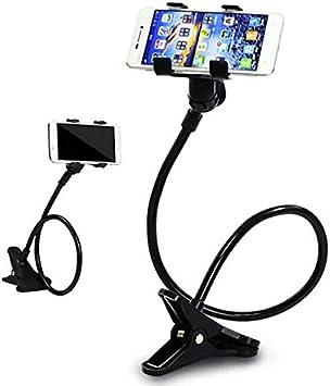 PRITECH Soporte para teléfono móvil, lonzoth Teléfonos Móviles Soporte Universal de Clip para iPhone Smartphone Stand|Black (Negro): Amazon.es: Electrónica