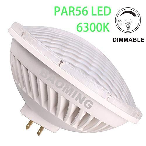BAOMING PAR-56 LED Bulb Dimmable 28W Cool White (6000~6300K) SMD LED Spot Light 24°Beam Angle Replace Standard PAR 56 300 Watt Light AC/120V Base Type: GX16D