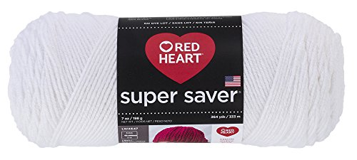 RED HEART Super Saver Yarn, White