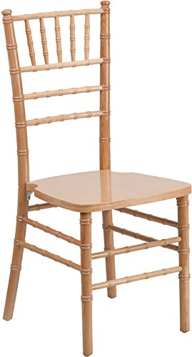 Flash Furniture HERCULES Series Natural Wood Chiavari Chair (For Banquettes Sale)