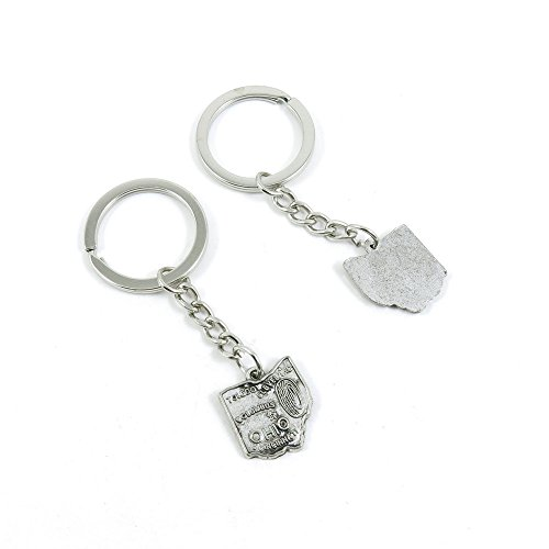 1+Pieces+Keychain+Door+Car+Key+Chain+Tags+Keyring+Ring+Chain+Keychain+Supplies+Antique+Silver+Tone+Wholesale+Bulk+Lots+M9XA2+Ohio+Map+Tag