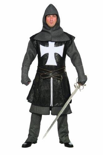 Renaissance Faire Dresses For Sale (Forum Deluxe Designer Collection Medieval Black Knight Costume, Grey/Black, Small)