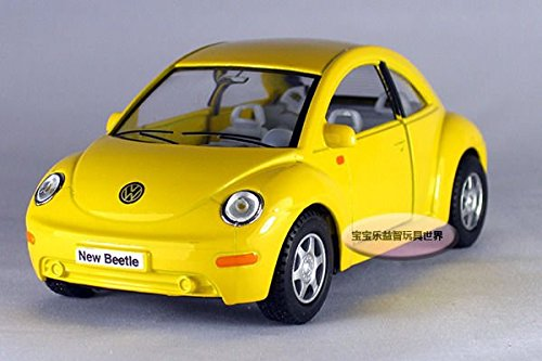 New 1:32 Volkswagen Beetle Coupe Alloy Diecast Car Model Toys Yellow 153b /item# - New Beetle Coupe
