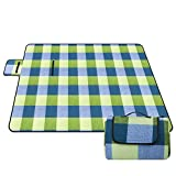"""Diswoe Picnic Blanket 79""""x57"""" Large Foldable Sandproof and Waterproof Mat for Beach,Camping,Picnics, and Outings"""