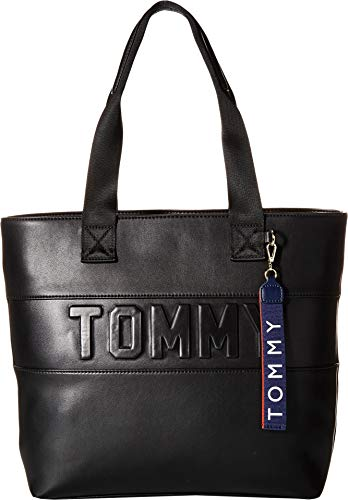 Tommy Hilfiger Women's Chiara PVC Tote Black One Size