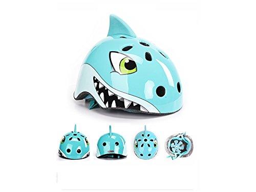 Cool Children Helmets Bicycle Cartoon Animal Riding Helmet Skate Helmet Outdoor Helmet Roller Skid Helmet(Blue Shark) for Riding by Zehaer