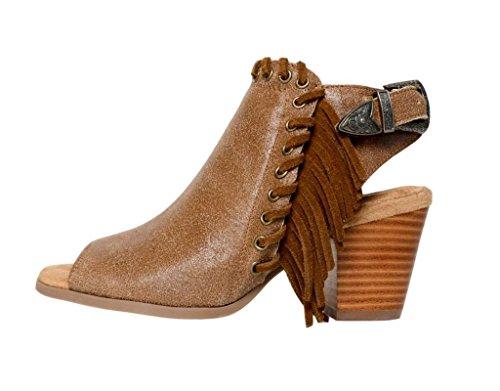 Minnetonka Womens Mae Dusty Brown Distressed Suede discount order cheap sale 2015 shop online FZFWVNdxv