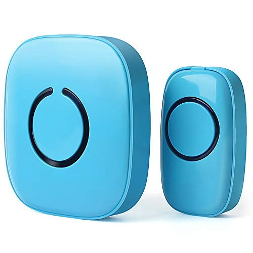 SadoTech Model C Wireless Doorbell Operating at over 500-feet Range with Over 50 Chimes, No Batteries Required for Receiver, (Baby Blue)