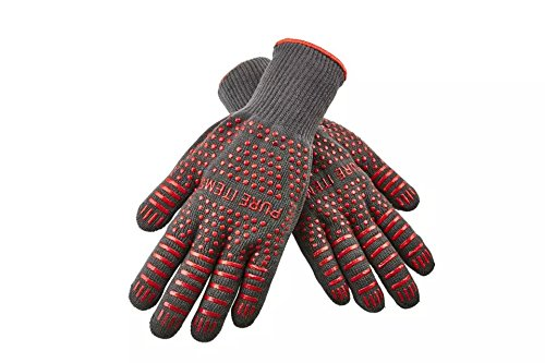 I PURE TIEMS TM Extreme Heat Resistant for Cooking, Oven, Grill & BBQ Gloves , EN407 certified to withstand 932°F...