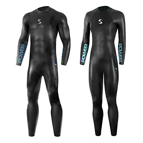 Synergy Triathlon Wetsuit 3/2mm - Volution Full Sleeve Smoothskin Neoprene for Open Water Swimming Ironman & USAT Approved  (Men's M3, ()