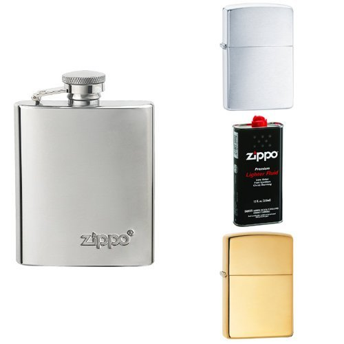 - Zippo His and Hers Flask Bundle