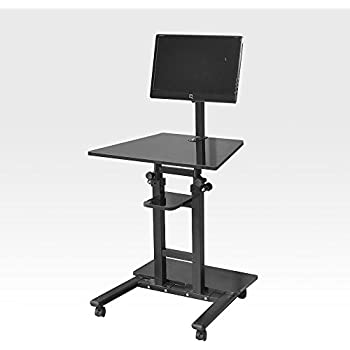 Amazon Com Soges Adjustable Mobile Stand Up Desk