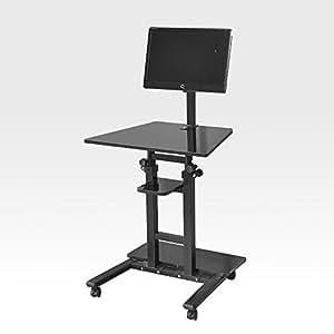 Soges adjustable mobile sit standing desk for Mobel computertisch
