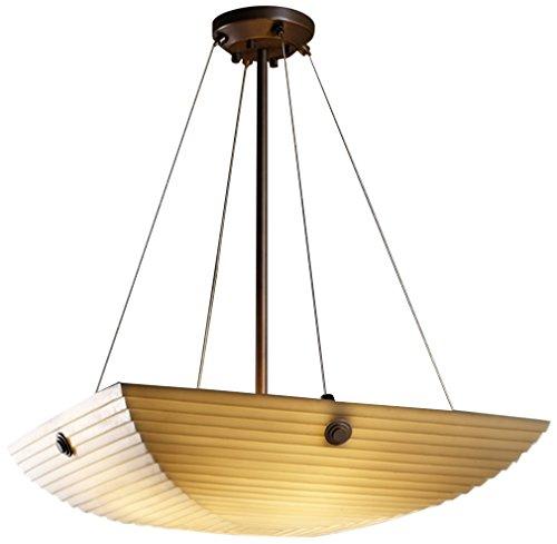 Justice Design Group Lighting PNA-9661-25-SAWT-DBRZ-F6-LED3-3000 Porcelina-Finials 21